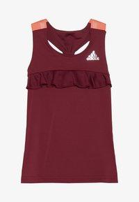 adidas Performance - RIBBON TANK - Koszulka sportowa - bordeaux - 2