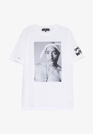 REALITY  - T-shirts med print - white/print black