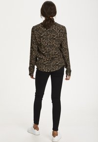 Kaffe - Blouse - black w.green/sand dot flower - 2