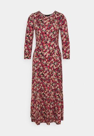 DITSY 3/4 SLEEVE EMPIRE SEAM MIDI DRESS - Jersey dress - pink