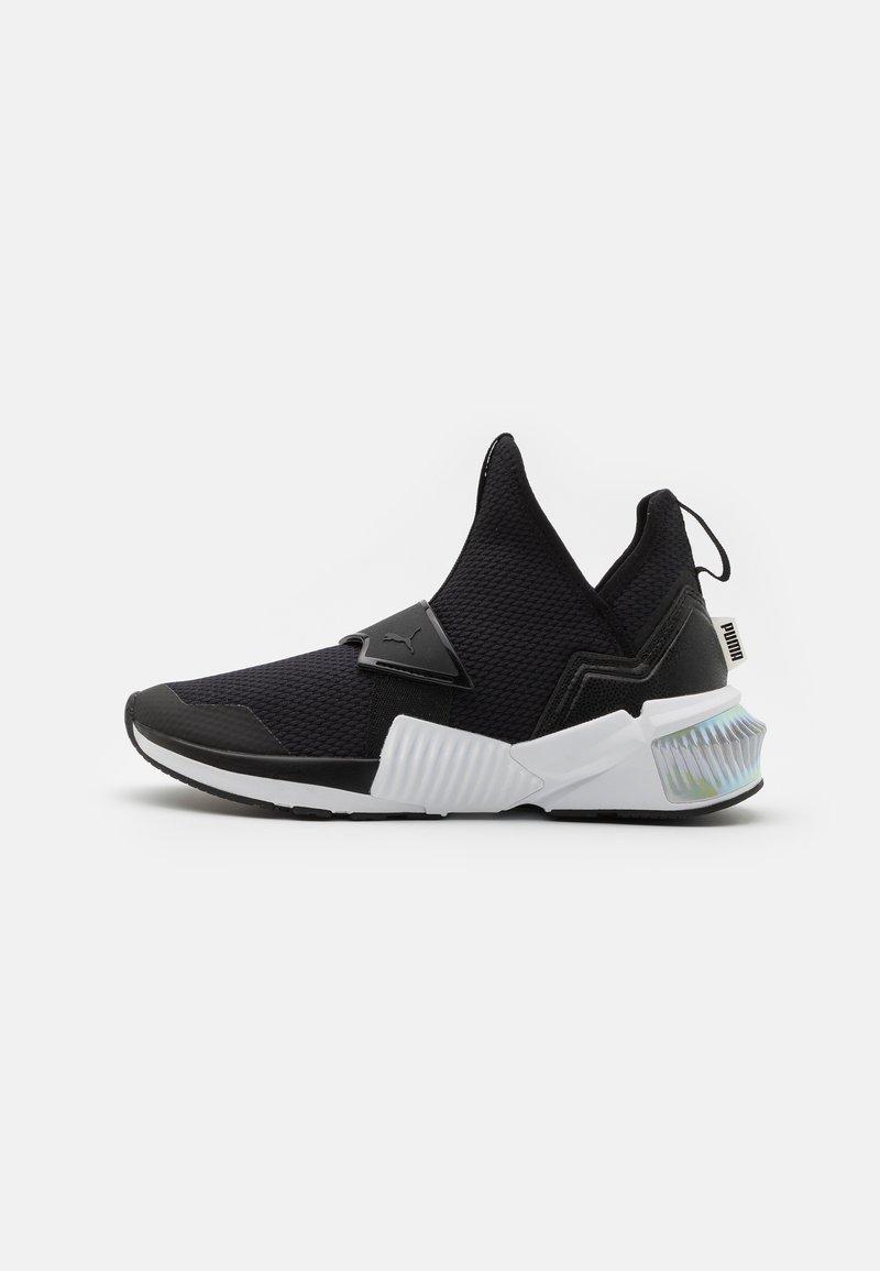 Puma - PROVOKE XT MID IRIDESCENT - Sports shoes - black/white