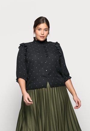 VMMARLEY - Button-down blouse - black/birch