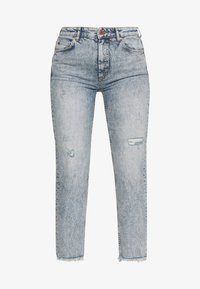 TÖRE CROPPED - Slim fit jeans - authentic destroyed wash