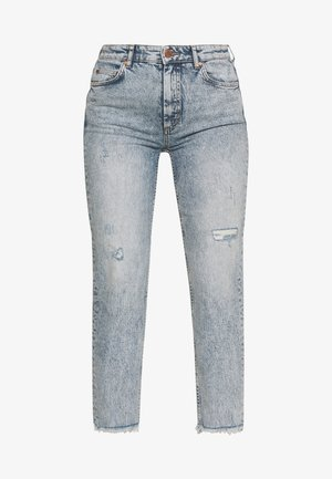 TÖRE CROPPED - Jeans slim fit - authentic destroyed wash