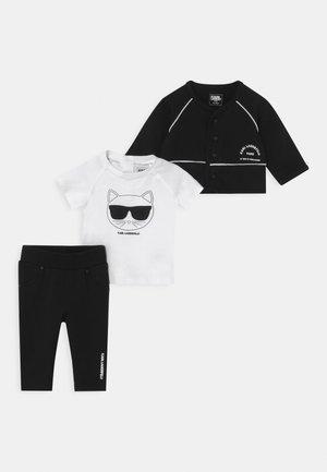 BABY SET UNISEX - Tracksuit - black/white