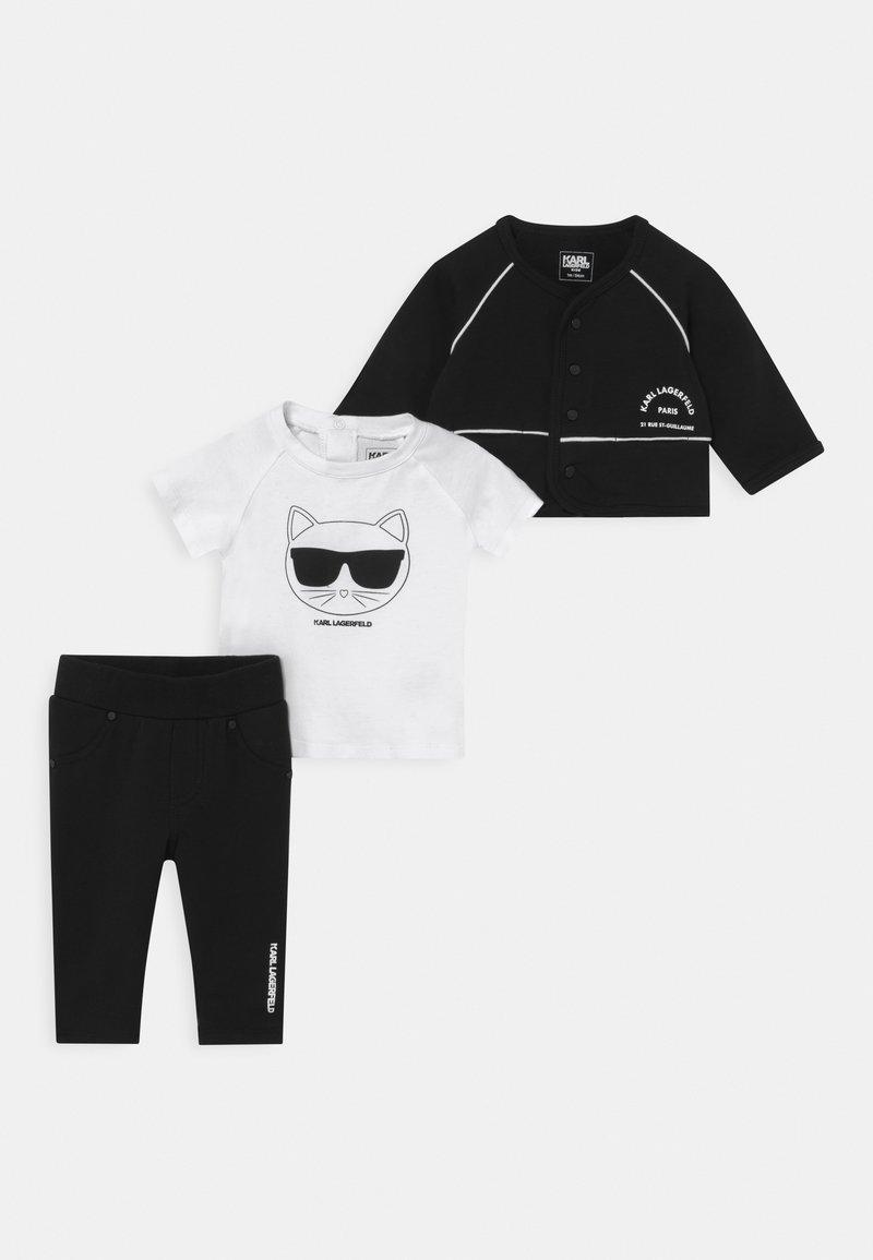 KARL LAGERFELD - BABY SET UNISEX - Tracksuit - black/white