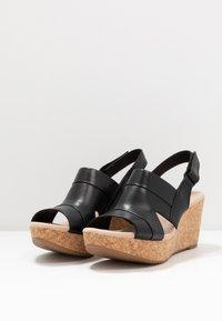Clarks - ANNADEL  - Platform sandals - black - 4