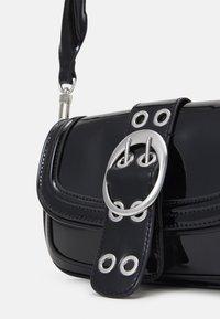Topshop - PATENT 90S SHOULDER - Handbag - black - 3