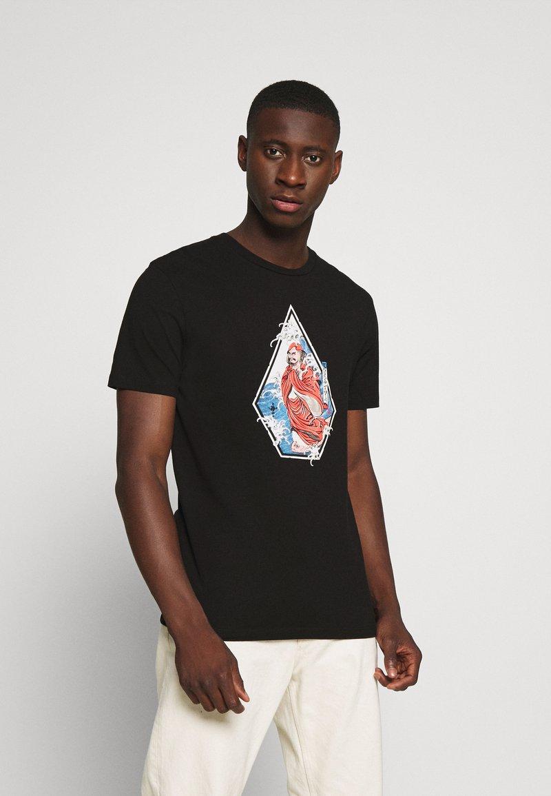 Volcom - NOZAKA SURF - Print T-shirt - black
