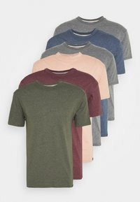 Newport Bay Sailing Club - MULTI TEE MARLS 7 PACK - T-shirt basique - dark blue/dark grey/bordeaux/tan/dark olive - 5