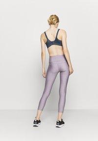 Under Armour - HI RISE CROP - Punčochy - slate purple light heather - 2