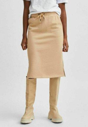 COMFORT FIT  - Pencil skirt - beige