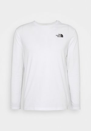 MESSAGE TEE - Long sleeved top - white/black