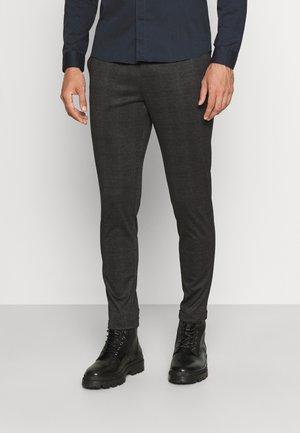 CHECKED SUPERFLEX PANTS - Chinos - black