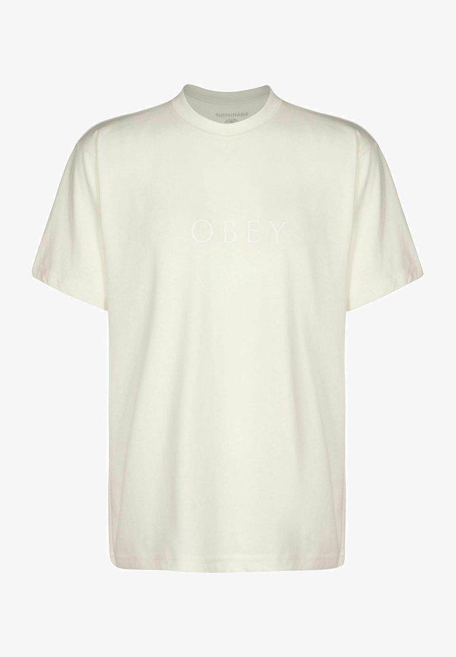 NOVEL - T-shirt con stampa - cream