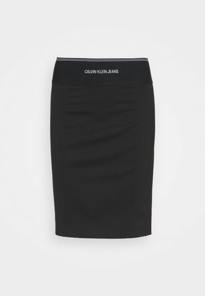 MILANO BODYCON ELASTIC SKIRT - Jupe crayon - black