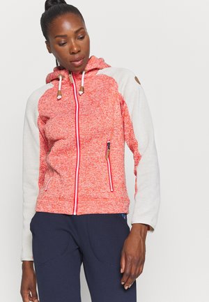 AUBURN - Fleece jacket - coral red