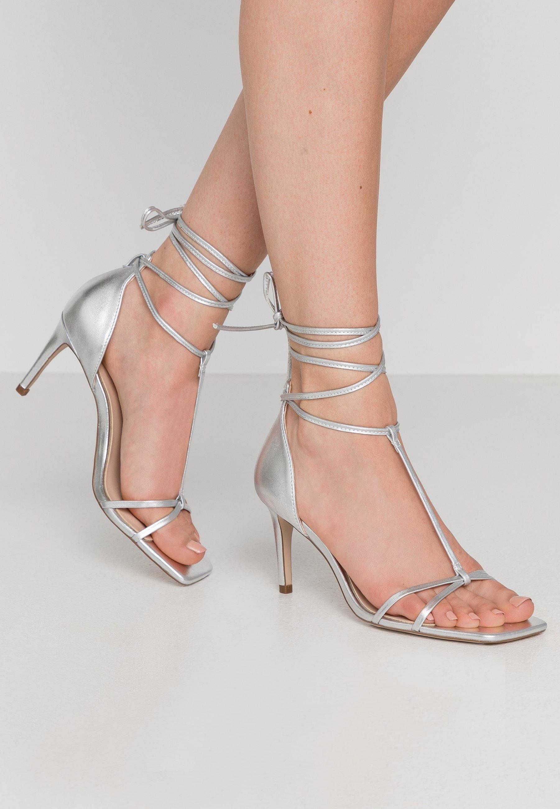 Damen High Heel Sandalette - silver