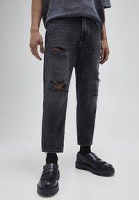 PULL&BEAR - Relaxed fit -farkut - mottled dark grey - 0