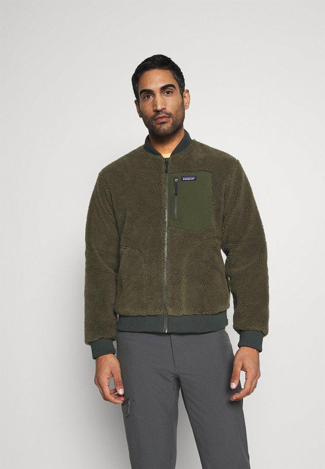 RETRO BOMBER - Fleece jacket - basin green