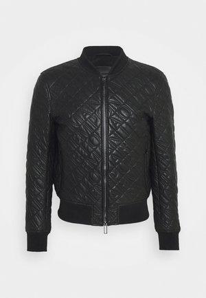 BLOUSON JACKET - Leather jacket - black