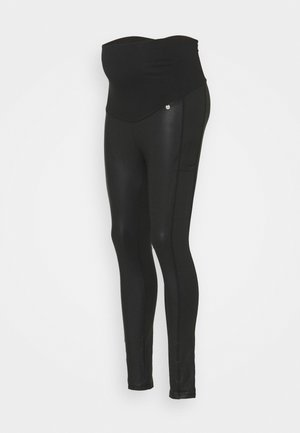 SIDEPOCKETS - Trousers - black