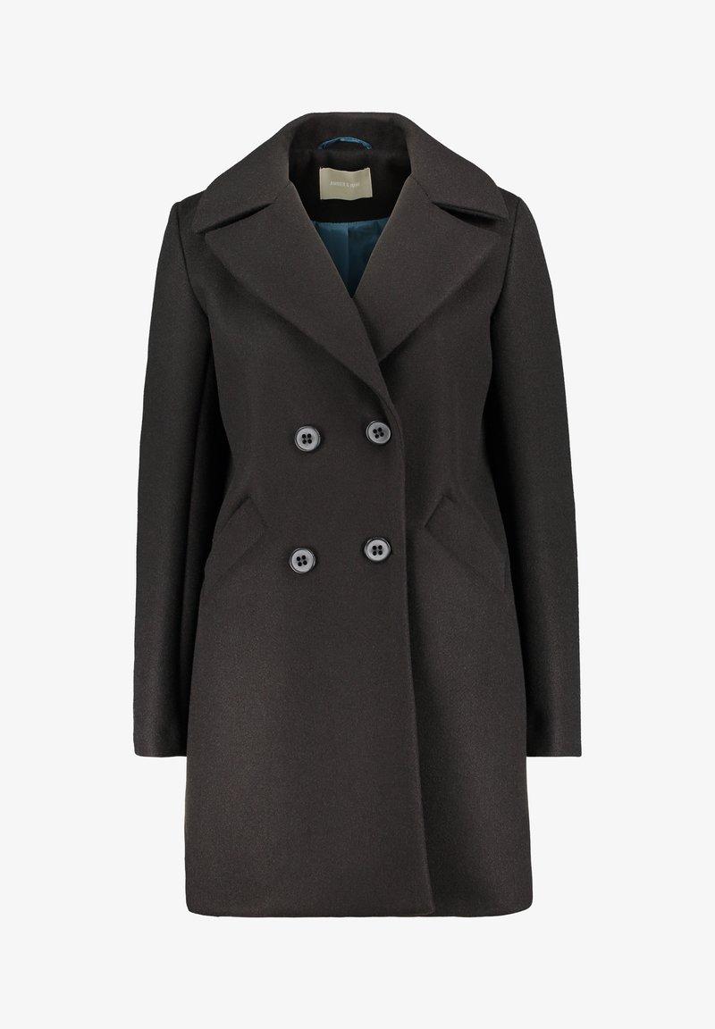 Amber & June - Classic coat - schwarz