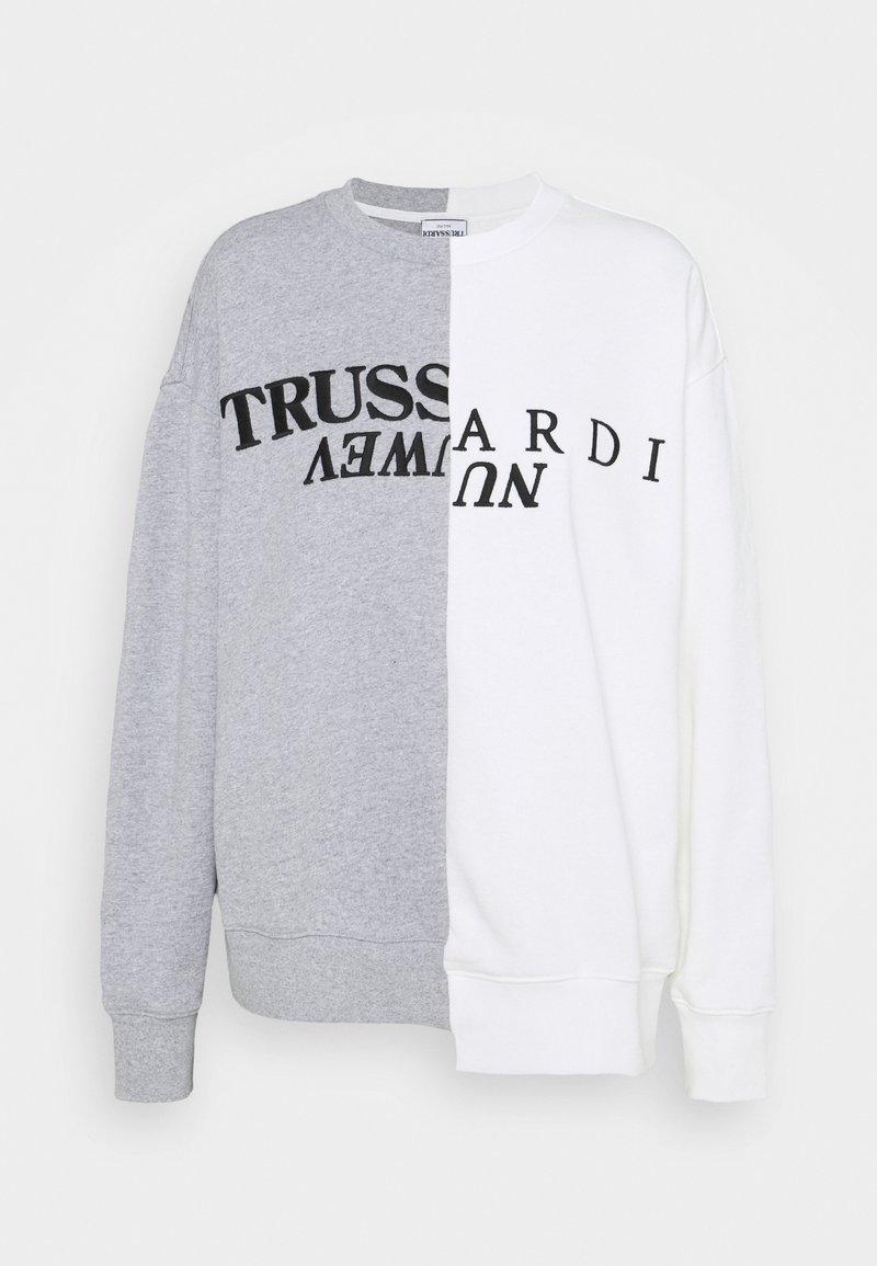 Trussardi - OFFSET PRINT - Mikina - white/grey