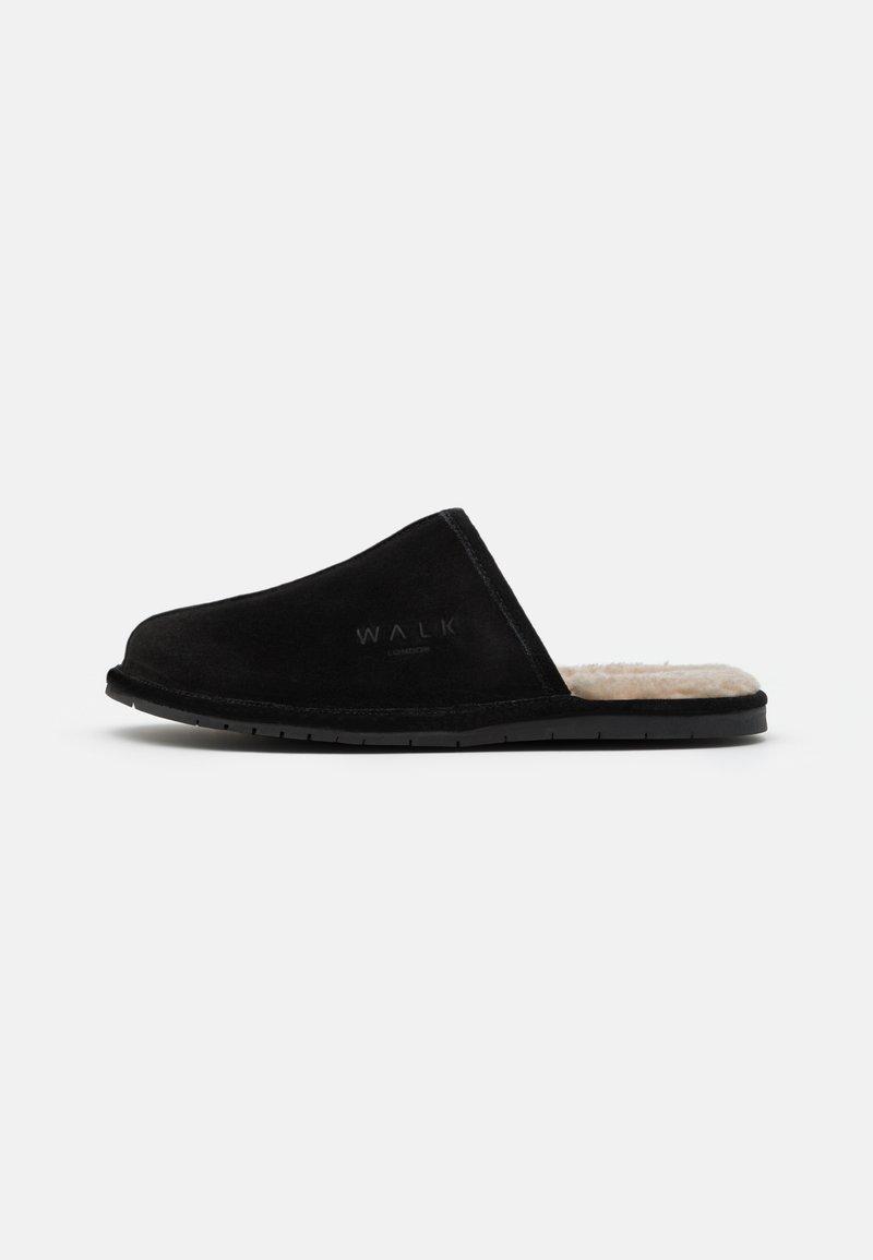 Walk London - LANGLEY - Pantofole - black/beige