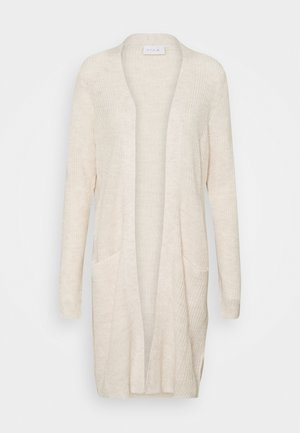 VIOKTAVI LONG CARDIGAN - Cardigan - super light natural melange