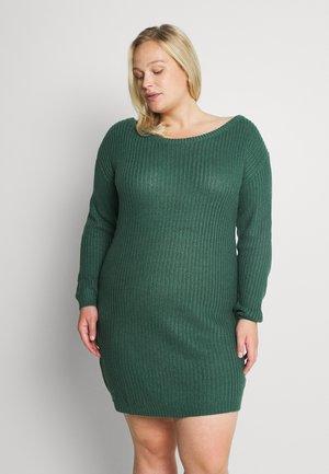 AYVAN OFF SHOULDER DRESS - Jumper dress - dark green