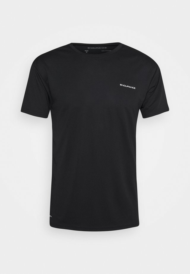 VERNON PERFORMANCE TEE - T-shirt con stampa - black