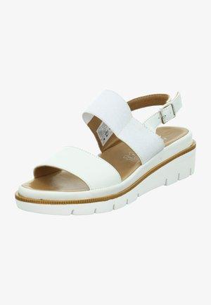ROSA - Wedge sandals - weiß