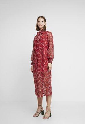 PIP WAISTED BOW MIDI - Denní šaty - red
