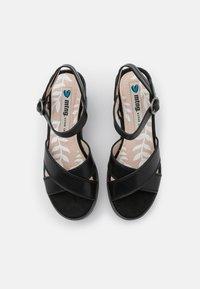 mtng - EMELINE - Platform sandals - black - 5