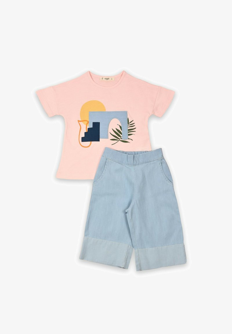Cigit - SET - Relaxed fit jeans - light pink