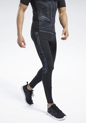 COMPRESSION PRINTED TIGHTS - Leggings - black