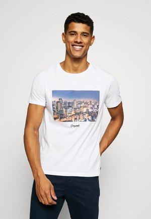 JORCITY TEE CREW NECK - T-shirt imprimé - white