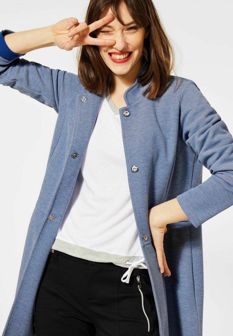 Street One - MIT PIQUÉ - Short coat - blau
