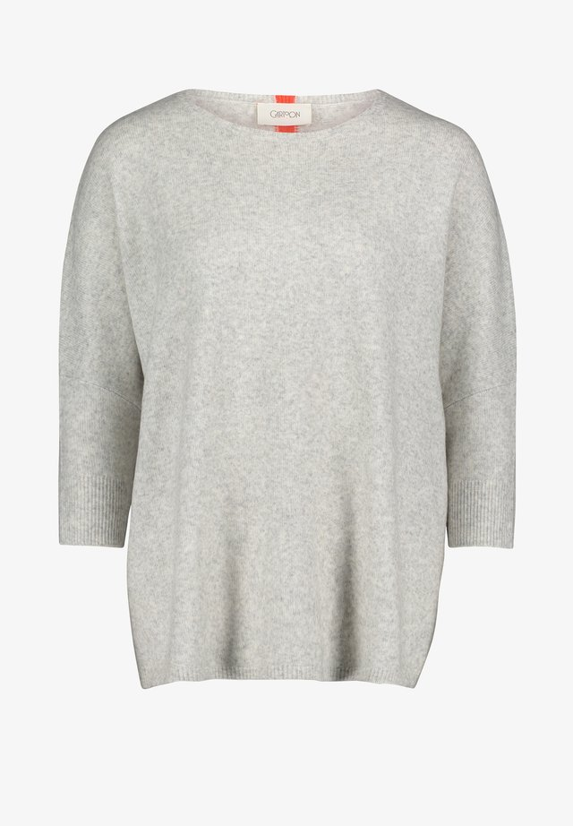 OVERSIZED FIT - Pullover - gris/rouge
