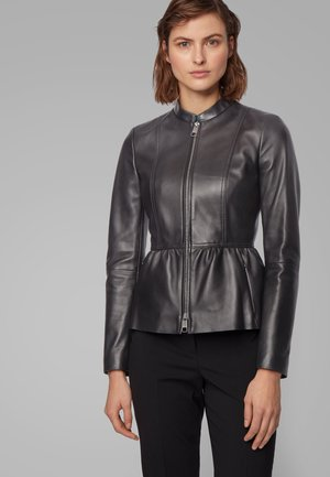 SATEUR - Leather jacket - black