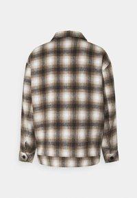 Mennace - FLECK CHECK  - Summer jacket - black/white/tan - 1