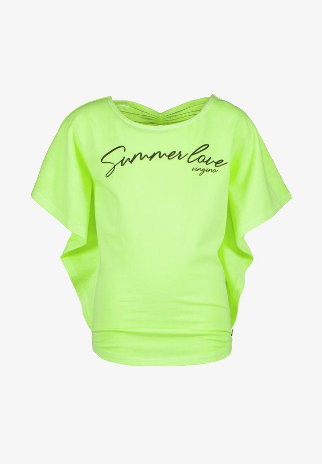 IRISSA - T-shirt print - neon yellow