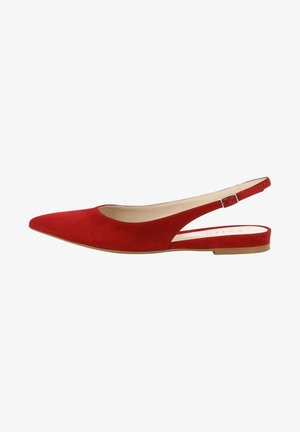 FRANCA - Slingback ballet pumps - red