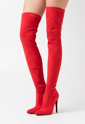 MARJORIE - High heeled boots - red