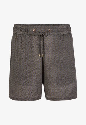 MIX AND MATCH - Swimming shorts - black with yellow