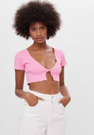 MIT SCHLEIFE - Kardigan - pink