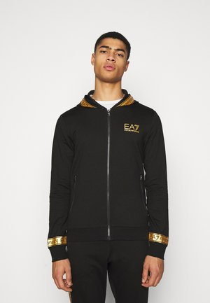 Sweatjacke - black gold