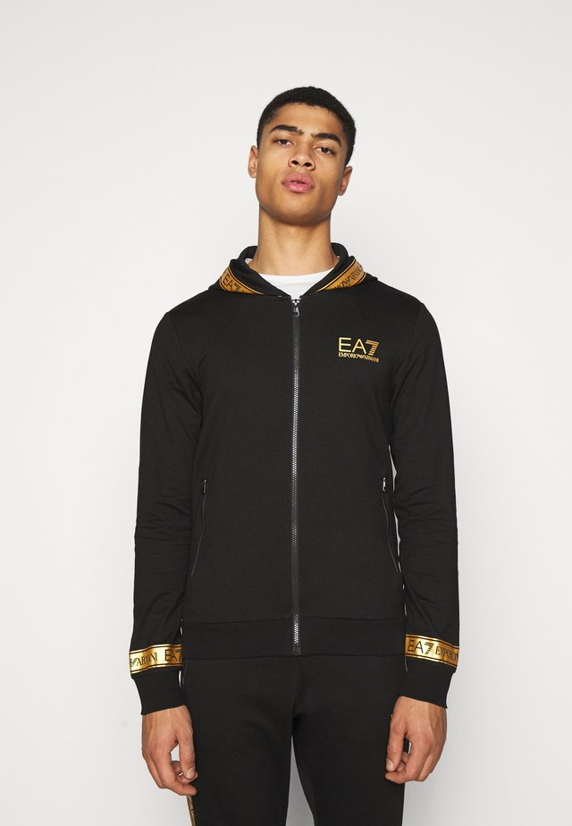 veste en sweat zippée - black/gold