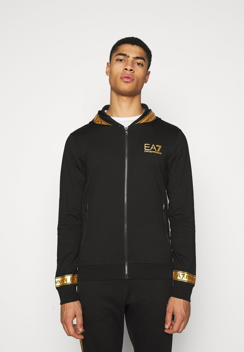 EA7 Emporio Armani - Zip-up hoodie - black/gold